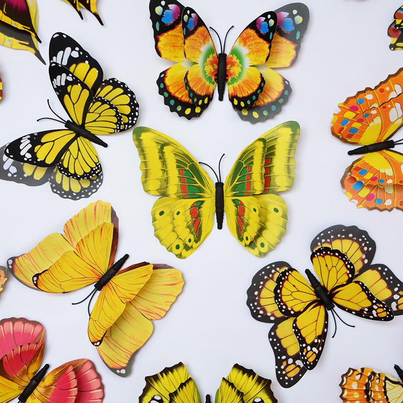 Long Wall DIY Room 3D Wall Stickers Butterfly Home Decor Wall Decal Art Design Magical(China (Mainland))