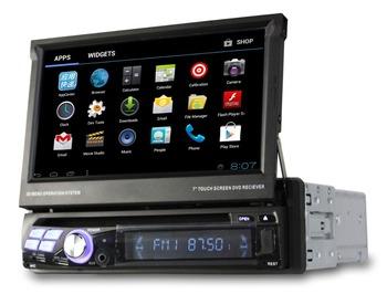 "7"" Car Radio Single1 Din Car DVD GPS player Android 4.0 Wifi 3G TV Car PC Automotivo Vehicle GPS auto radio stereo"
