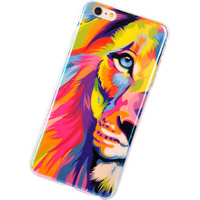 TPU Cases for iPhone 6 New Arrival For Apple iPhone 6 Plus Case Lions Tigers Blu-ray Silicon Design 5.5inch Phone capa Covers