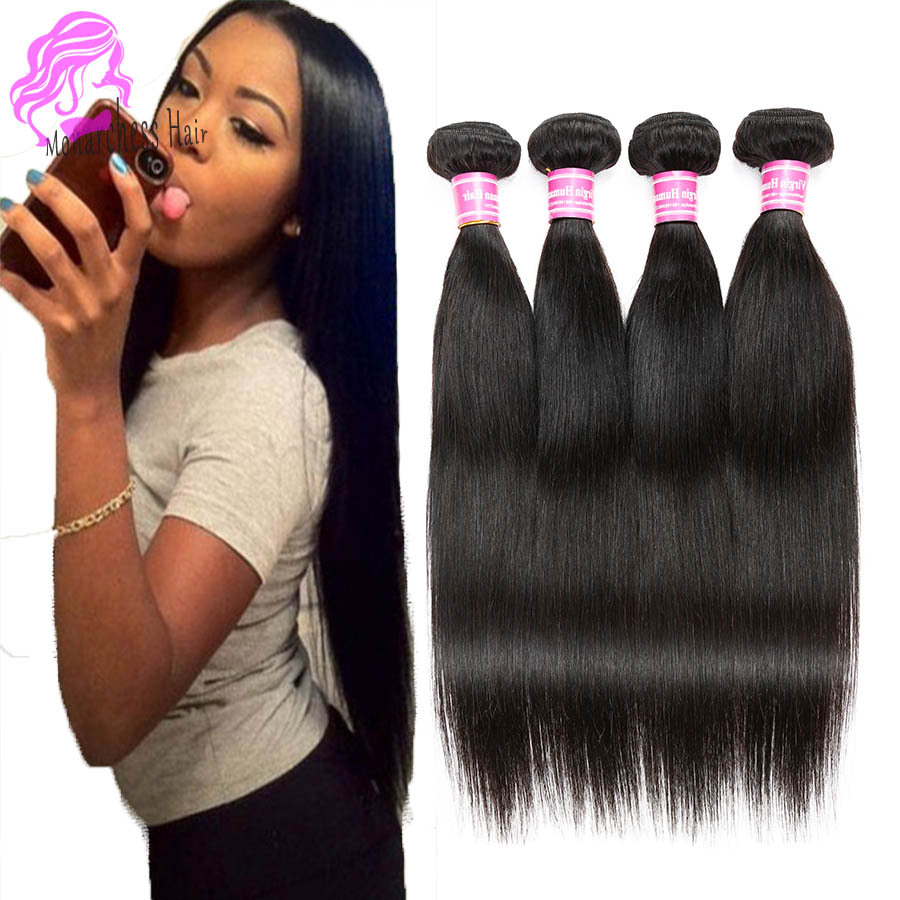 5ACheap Virgin Hair Brazilian Virgin Hair Straight  Brazilian Straight Hair Queen Hair Products Brazilian Straight 3pcs Bundles