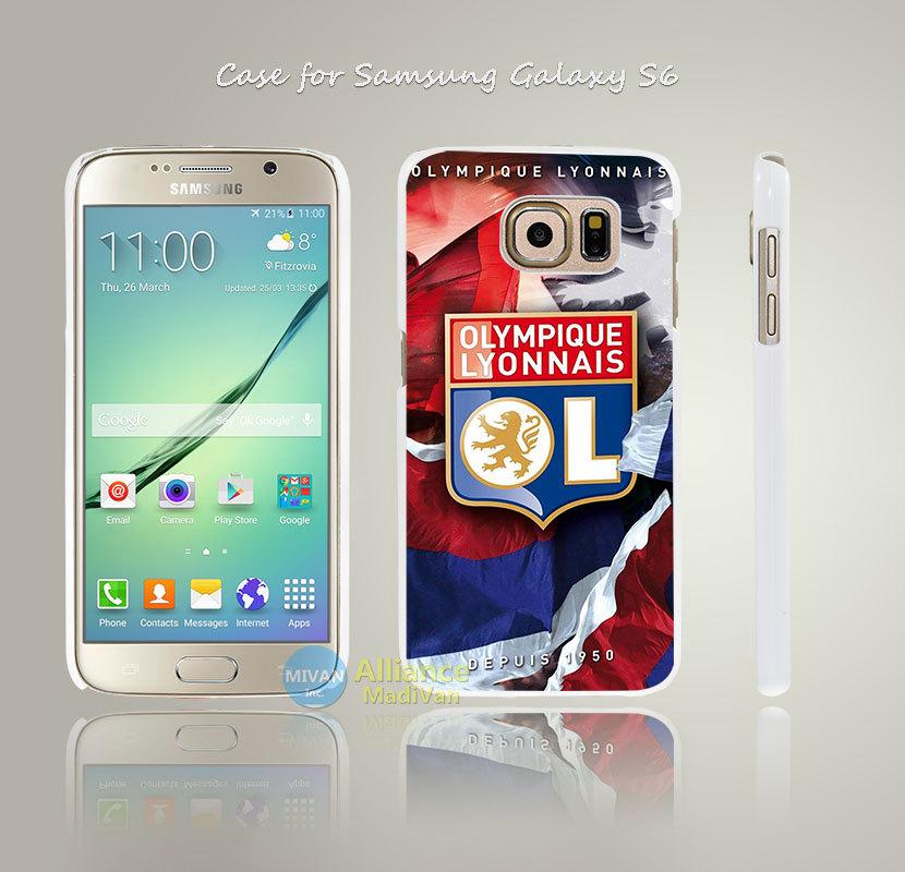 OL Lyon olympique lyonnais Style Hard White Case Cover Coque for Samsung Galaxy S3 S4 Mini S5 S6 S6 Edge(China (Mainland))