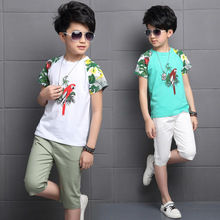 Buy Summer new boys clothes sets kids clothes 2pcs cotton bird print short sleeve t-shirt+pants,boys clothing suits 3-14 years for $10.08 in AliExpress store
