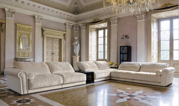 White sofa fabric french design 2015 new living room l for Latest living room designs 2015