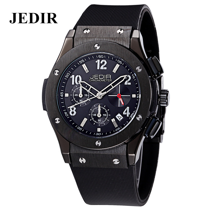 JEDIR Men's silicone watches Multifunction male Sport Watches Army Military Wrist Watch Relogio Masculino digital Quartz relojes(China (Mainland))