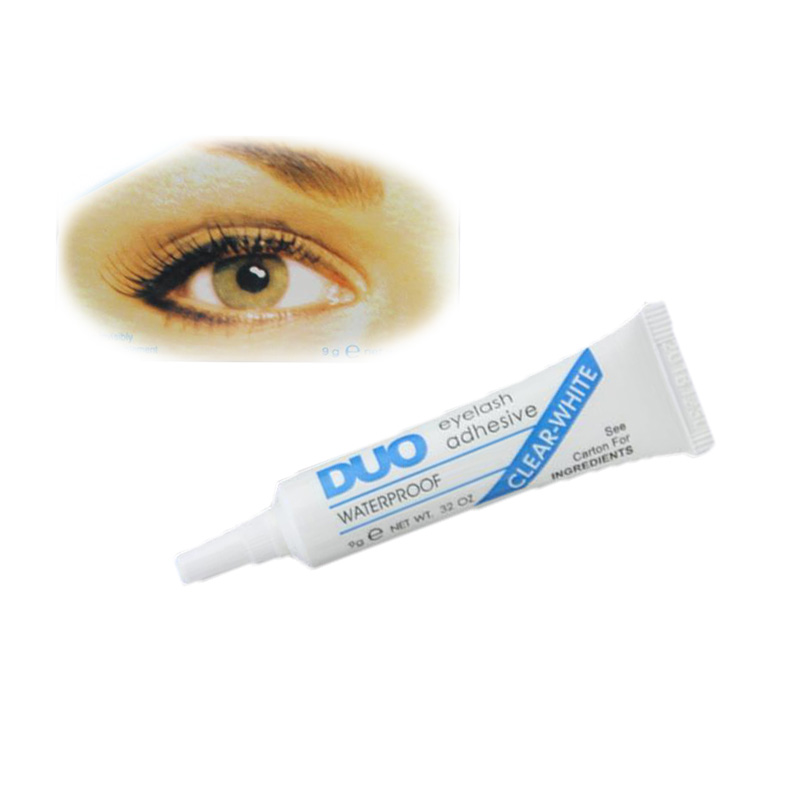 Brand DUO anti-sensitive hypoallergenic Eyelash glue White & Black Clear Adhesive False Eyelash Glue For Professional Waterproof(China (Mainland))
