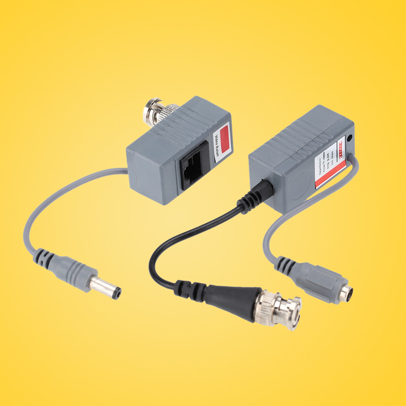 ABS Plastic CCTV Camera Video Balun Transceiver BNC UTP RJ45 Video and Power over CAT5/5E/6 Cable CCTV Accessories(China (Mainland))