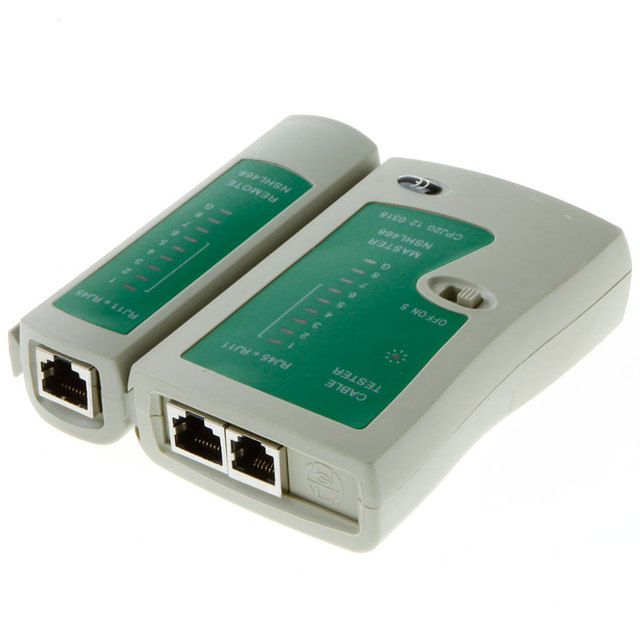 High Quality RJ45 RJ11 RJ12 CAT5 UTP Network LAN Cable Tester Networking Tool Wholesale Retail