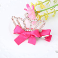 Hot Design Shiny Rhinestone Hair Clip Girls Hair Accessories Bowknot Children Accessories Baby Hairpins Beauty Diamond