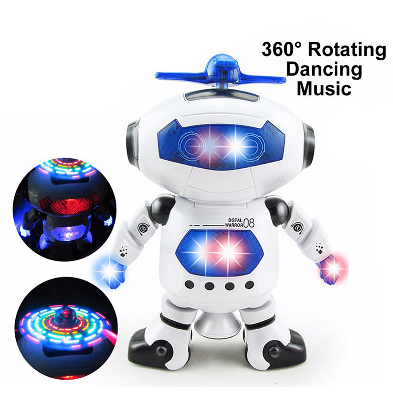 Intelligent robot dancing remote control toys dance robot toy model electric musical action figures toys for Child birthday gift(China (Mainland))