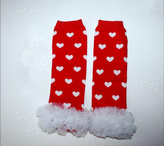 Valentine Baby Leg Warmers Red Heart LegWarmers Red Ruffle Leg Warmers Baby Leggings Girls ruffle leggings Red Heart leg warmers(China (Mainland))