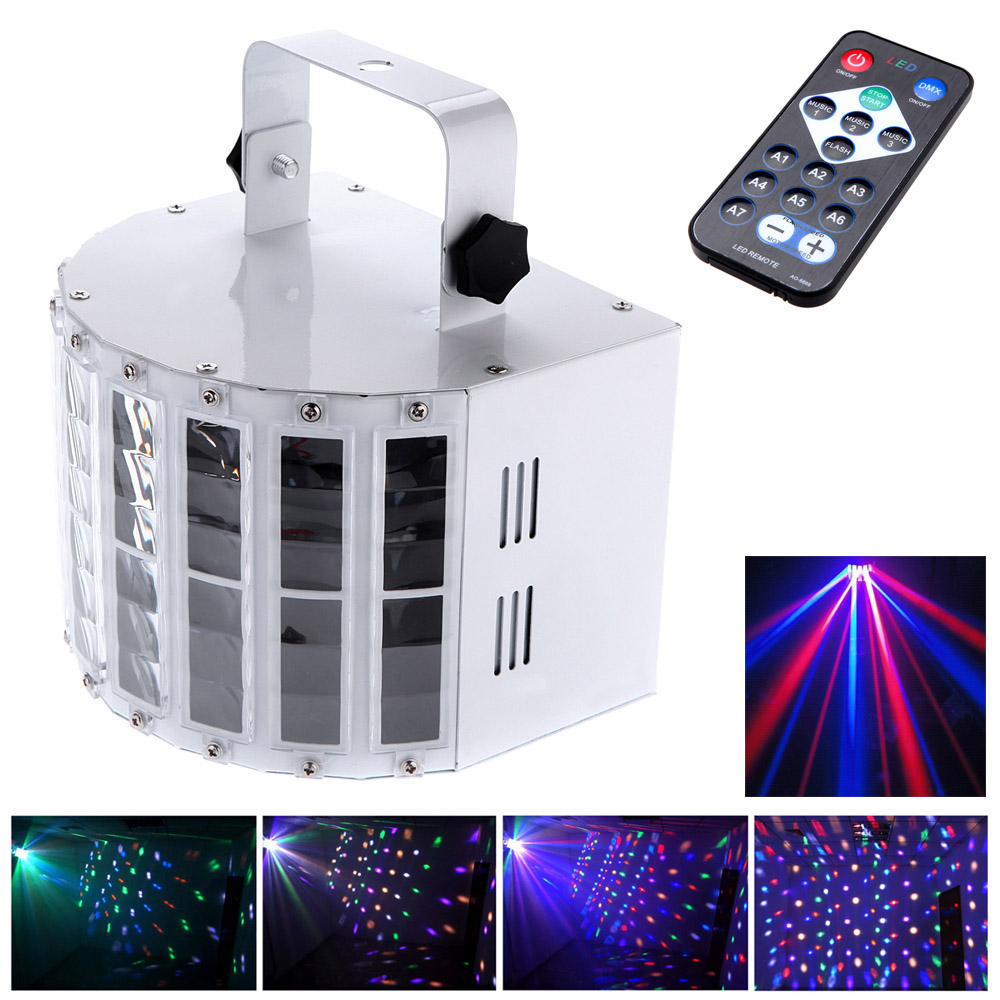 Automatic Voice Control 100-240V 24W LED Stage Lighting Effect Professional RGBW LED 6 Channel Dmx 512 Stage Light DJ Home KTV(China (Mainland))