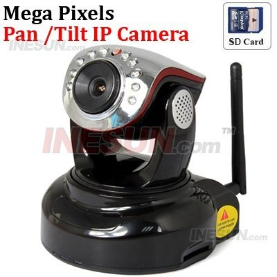 CCTV MegaPixel Professional H264 802.11b/g/N WIFI IP Camera Support IR and color filter change