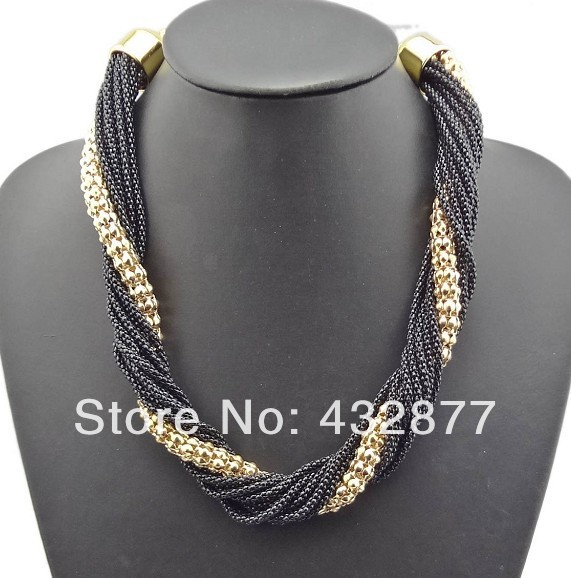 Retail New Arrival European Charming Hot Sale Style Fashion Popular  For Women 6 colors  Multilay Chains Tassel Link Necklace<br><br>Aliexpress