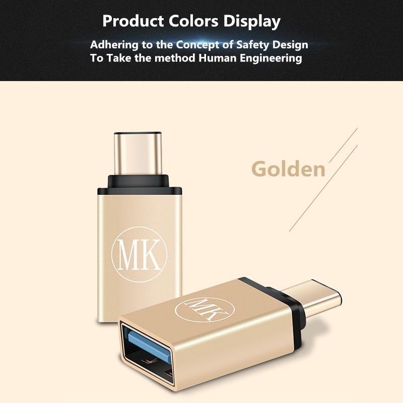 Original MK for LETV Xiaomi Type-C to OTG Adapter Cable USB 3.1 for Pro5 Mobile Phone USB Data Line Adapter 3 Free Shipping