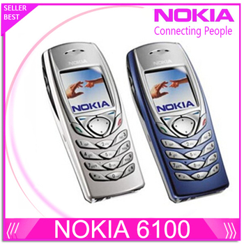 Nokia 6100 мобильный телефон открынный GSM Triband отремонтированный 6100 мобильный телефон телефон