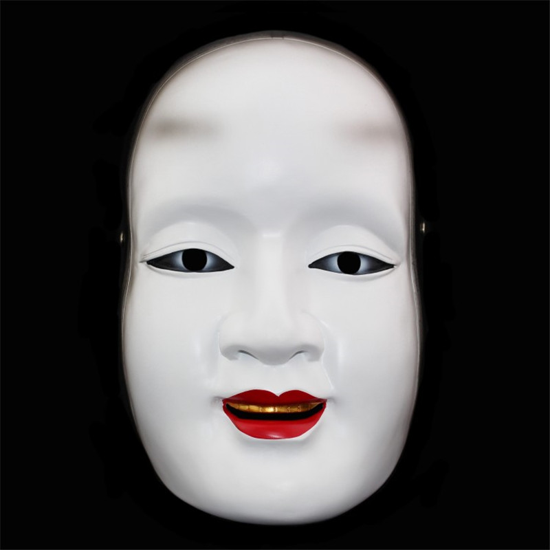 Japanese Ghost Halloween Mask cos Facebook Prajna resin Magojiro adult toy traditional dance party decorative art collection(China (Mainland))