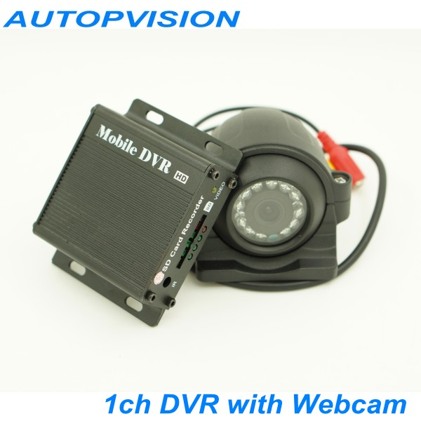 HD D1 1ch Mini DVR car/Bus/home Used 1 channel DVR Motion Detect With Webcam and cable Support 64gb SD Card
