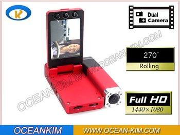 New Full HD X5000 Car BLACK BOX DVR recorder Q8 Dual Cameras Dual lens 1440 x 1080P X5000 carcam Wholesale and Retail
