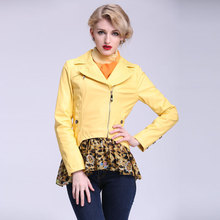 Free shipping! 2015 new fashion women casual short jacket slim Turn-down Collar  boruoss s041(China (Mainland))