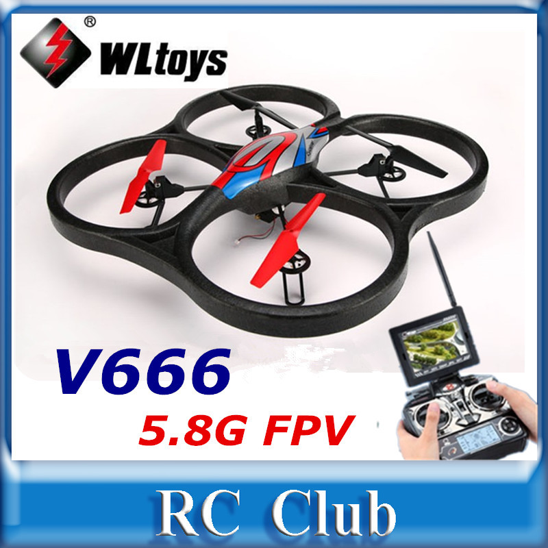 WLtoys V666 5.8G FPV 6-Axis Gyro UFO RC Quadcopter With 2MP Camera and FPV Monitor RTF 2.4GHz VS WLtoys V262 X30V<br><br>Aliexpress