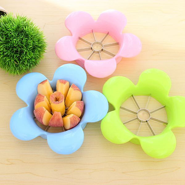 Petal Flower Pattern Fruit Divider A-pple Slicer Home Convenient Stainless Steel Fashion Practical Separator(China (Mainland))