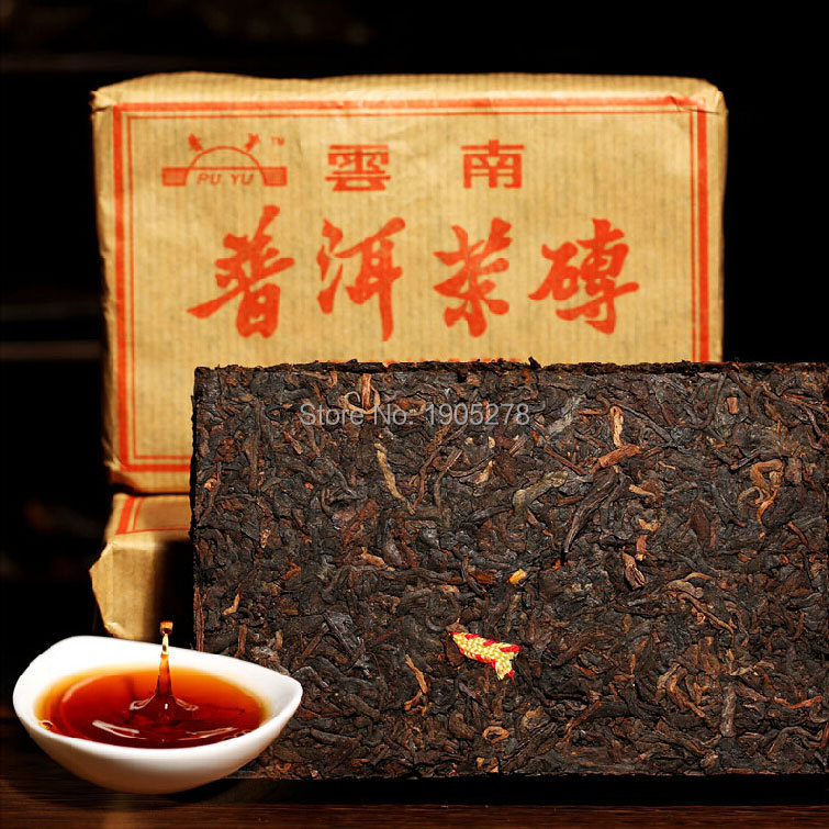 refined organic chinese puer tea brick 250g loose yunnan puerh tea premium puer ripe tea leaves