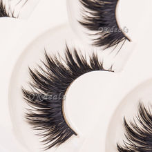 5 paia di delle donne delle signore trucco spessa false eyelashes eye lashes long black nautral handmade strumenti di trucco di bellezza(China (Mainland))