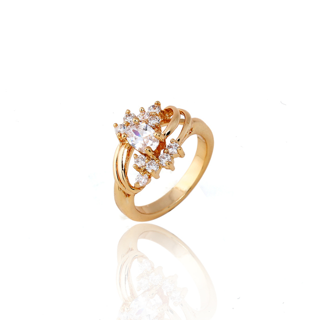 J0438 18K gold zircon the Ring jewelry wholesale fashion rose gold fill ring CARINA Ring
