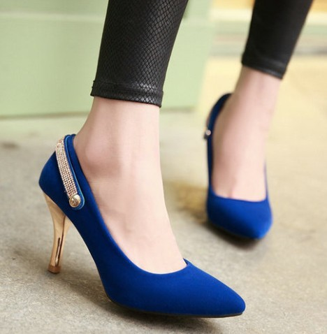 dropshipping fashion flock mary janes heels women's high heeled wedding shoes pumps