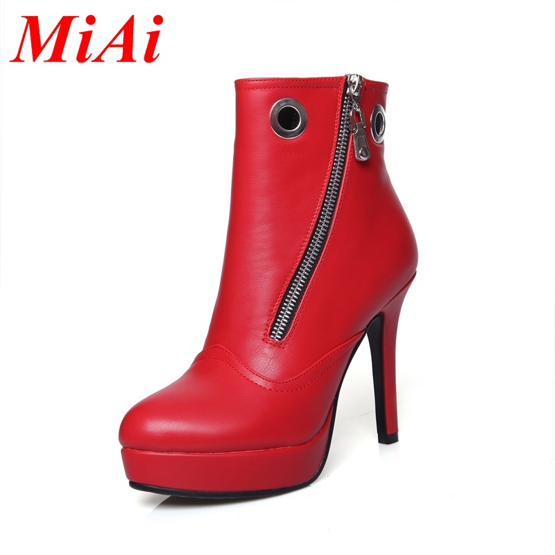 High quality fashion women ankle boots thin high heels autumn boots platform casual shoes designer women shoes botas feminina<br><br>Aliexpress