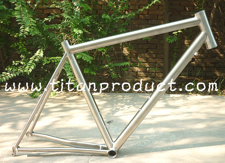 Gr.9 Titanium Road Bike Frame 41.2 Integrated Headtube/Internal Cable Running/Replaceable Dropout(China (Mainland))