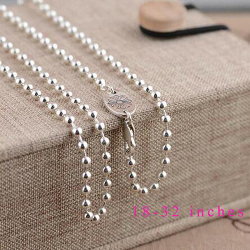 100% Real pure 925 sterling silver chain necklace for women 925 silver chain best gift free shipping JLW60124(China (Mainland))