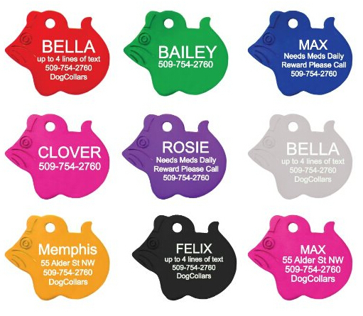 Free Personalized engraving text on pet id tags pendent dog id Mouse styles 8 colors(China (Mainland))