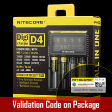 2016 New Nitecore D4 Digicharger LCD Display Nitecore Battery Charger Intelligent 2.0 Fit LI-ion 18650 14500 16340 26650 Ni-Cd