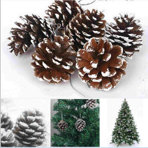 New 9X Christmas Pine Cones Baubles Santa Claus Xmas Tree Decorations Ornament Home Decor Wholesale Free(China (Mainland))
