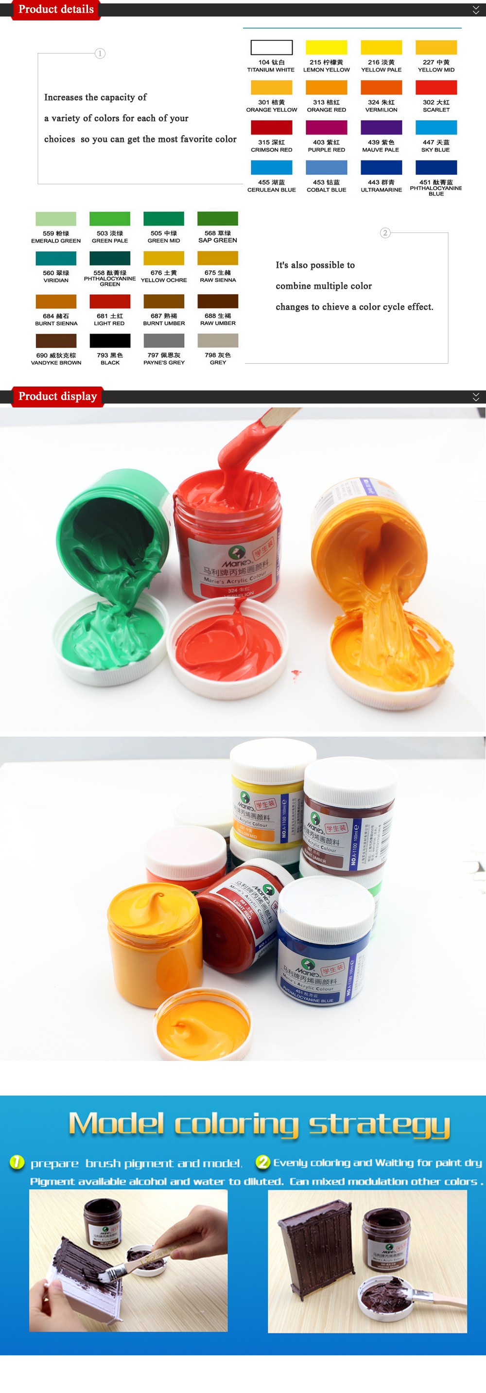 Wholesale-100ml Draw Painting Acrylic Paint Glass Paint Color Hand ...
