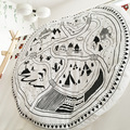 INS Fashion Europe Newborn Baby blanket village animal road pattern lovely for Air conditioning blanket Carpet