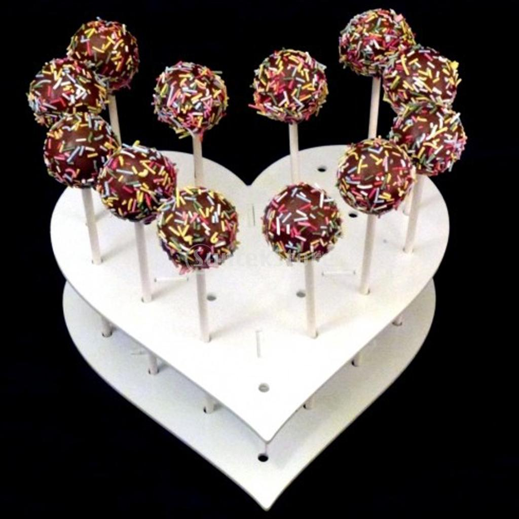 New Arrivals 2015 Acrylic Heart Shaped 15 Holes Lollipop Holder Cake Pop Display Stand 1 Set Free Shipping(China (Mainland))