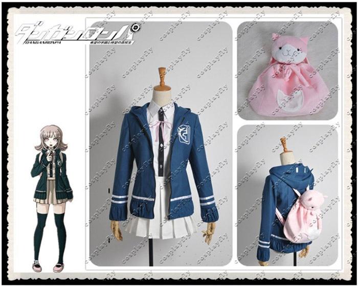 Danganronpa Chiaki Nanami Chiaki font b Cosplay b font Costume font b Wig b font Cat