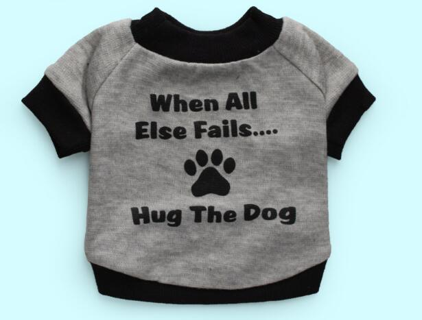 1pcs doggy fashion letters printed vest clothing dogs cats spring summer t shirts costume puppy clothes XS S M L