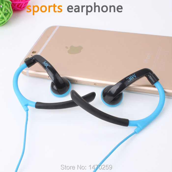 High Quality Stereo sport Headset Earphones handsfree Headphones with Mic 3.5mm Earbuds for All Mobile Phone Tablet MP3 Player