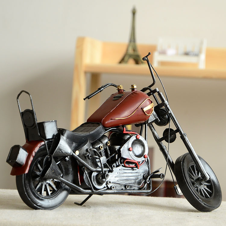 Bar Zakka for Vintage Retro Ornaments Metal Motorcycle Model Home Decor Antique Simulation Gifts & Crafts free Shipping(China (Mainland))