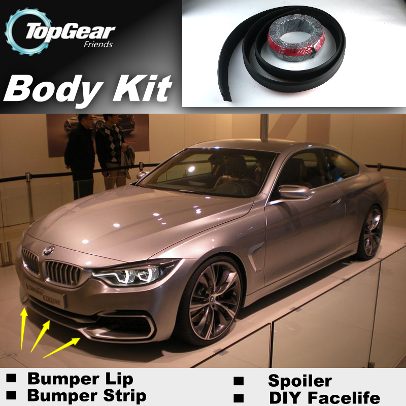 Bumper Lip Lips For BMW 4 Series M4 F32 F33 F36 2013~2015 / Top Gear Shop Spoiler For Car Tuning / TOPGEAR Show Body Kit + Strip<br><br>Aliexpress