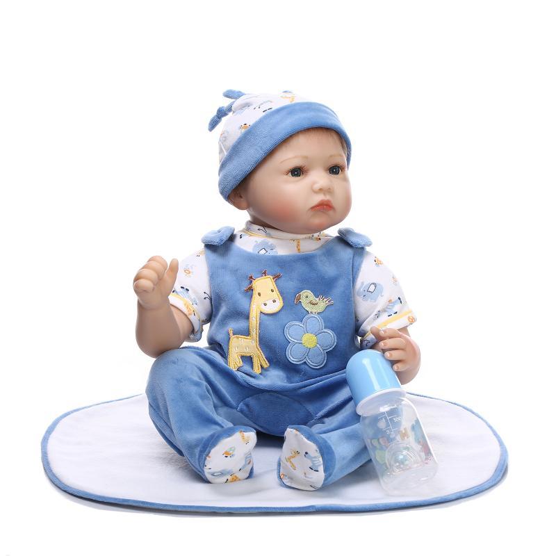 22inch Silicone Reborn Dolls Reborn Dolls Babies Lifelike Bebe Reborn Realista Bonecas Bebes Newborn Baby Dolls Brinquedos NEW(China (Mainland))