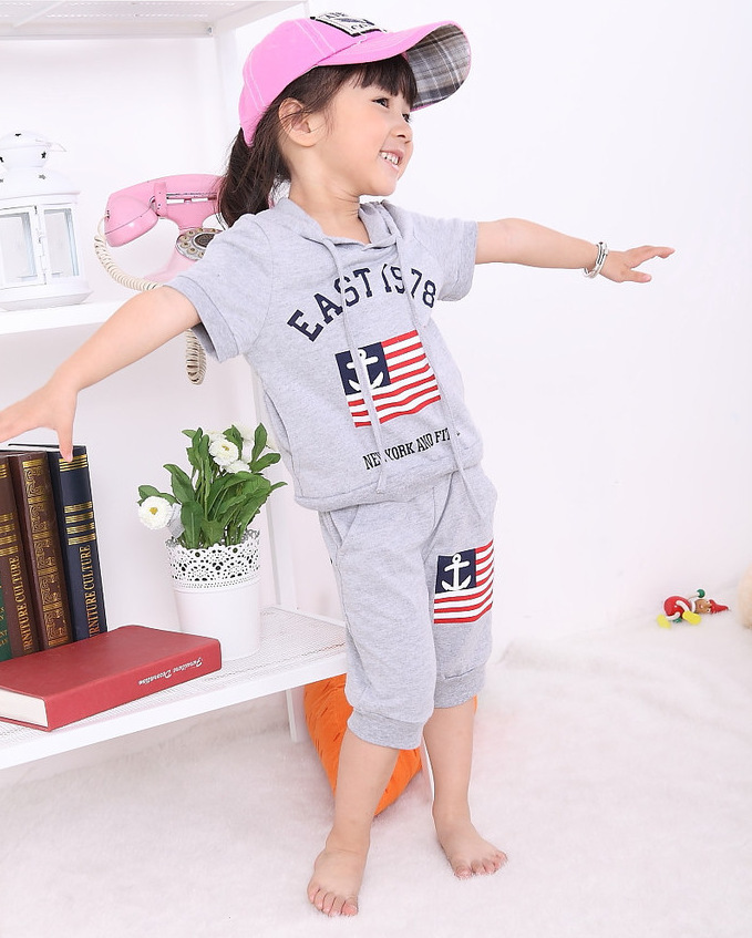 Aliexpress.com : Buy Summer children boy girl clothing set ...