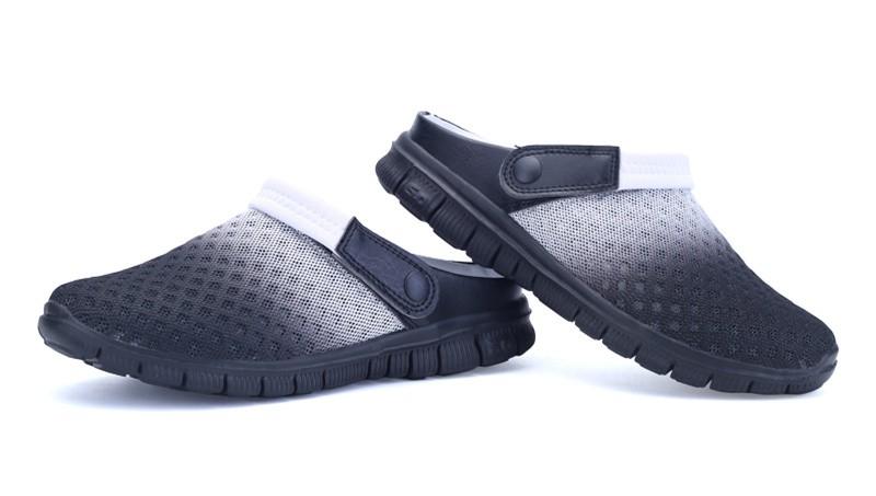 RECOISIN Плюс Размер Мужчины Мокасины Лето Скольжения На Ленивых Мужская Обувь Пляжная Обувь Квартиры Обувь Chaussure Мужчины Прогулки Повседневная обувь 927