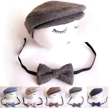 Baby Boy Hat+Tieback Newborn Photography Prop,Cute Baby Hat Newborn Baby Costume #P2008(China (Mainland))