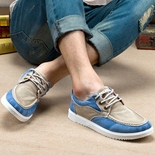 Canvas Shoes 2016 New Arrival Men's Fashion Spring Summer Style Casual Shoes Mens Breathable Flats Patchwork Lace-up Flats