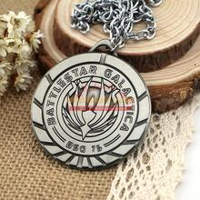 AA0565 New Battlestar Galactica BSG Logo Pendant Necklace Metal, Hot Cosplay fashion Jewelry(China (Mainland))