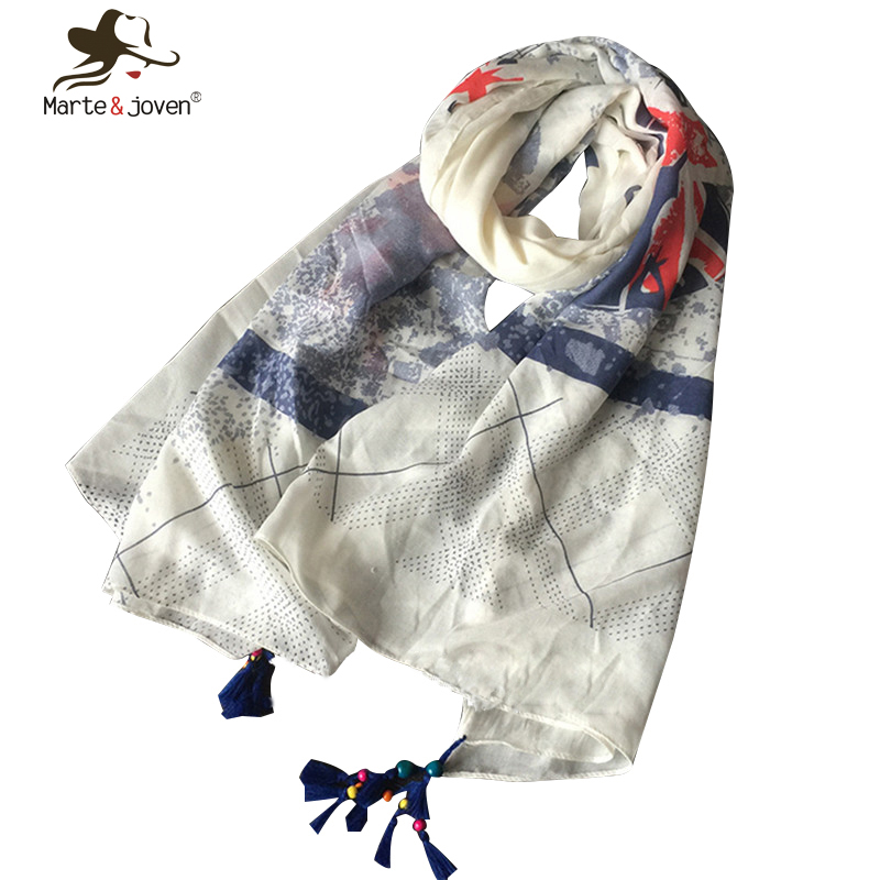 Fashion Guitar Oversized Summer Shawls and Scarves White Union Flag scarf for Women(China (Mainland))